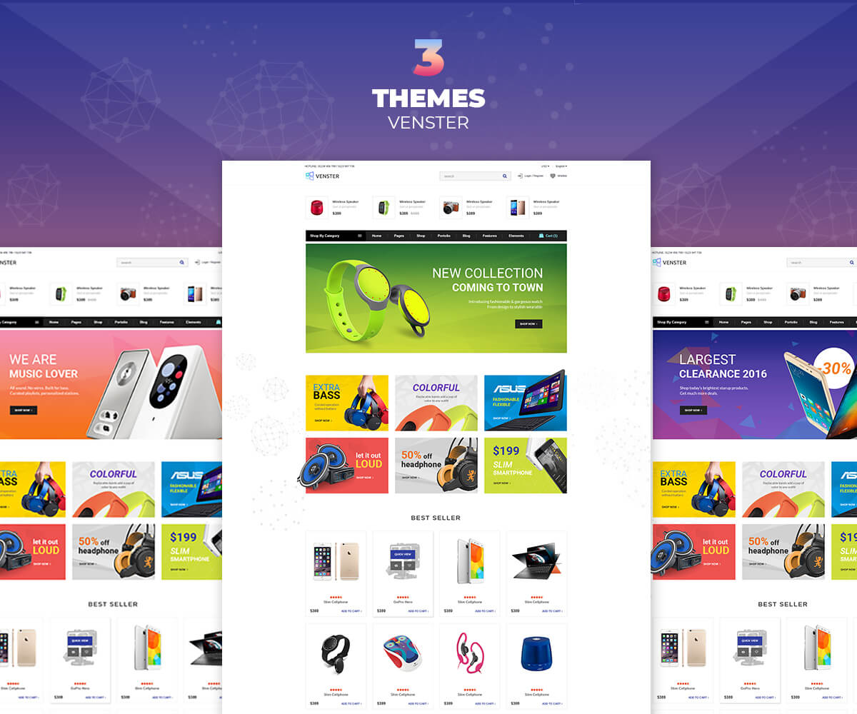 VENSTER – Computer Shopify Theme – Sections Page Builder For Digital, Electronics, high – tech store