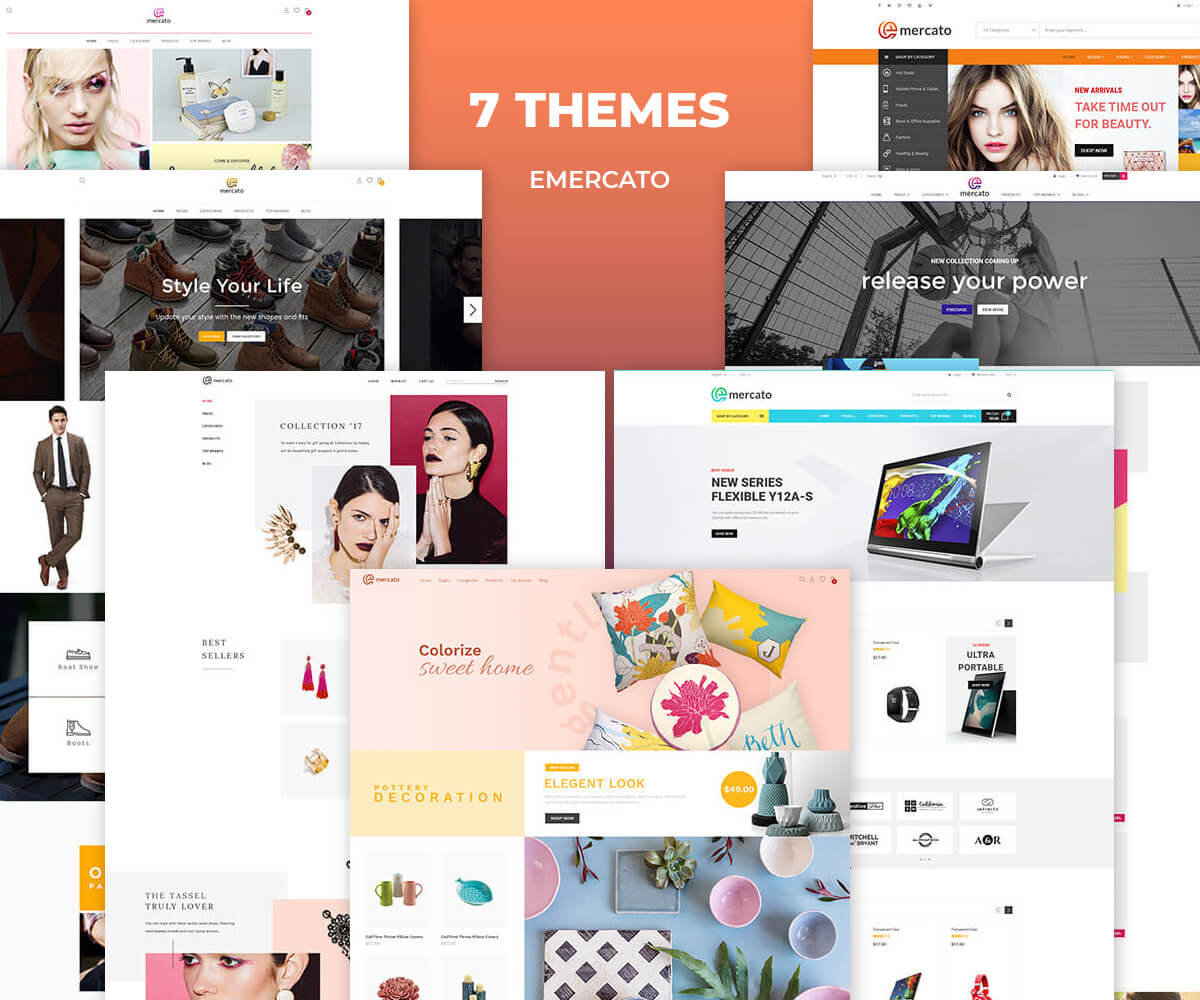 EMERCATO – Multi-purpose Responsive Shopify Theme – Sectioned Drag and Drop Theme Builder