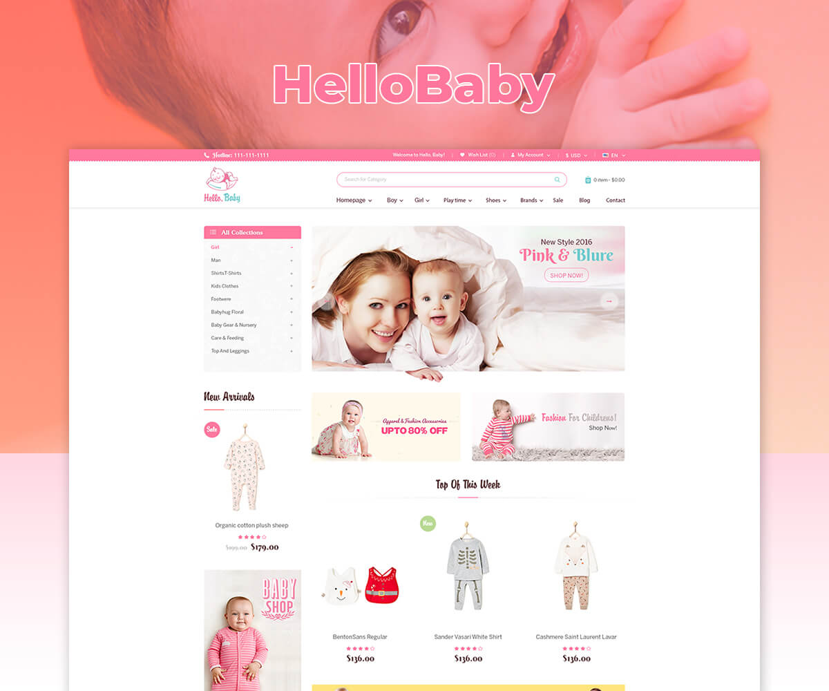 HelloBaby – Sectioned shopify theme