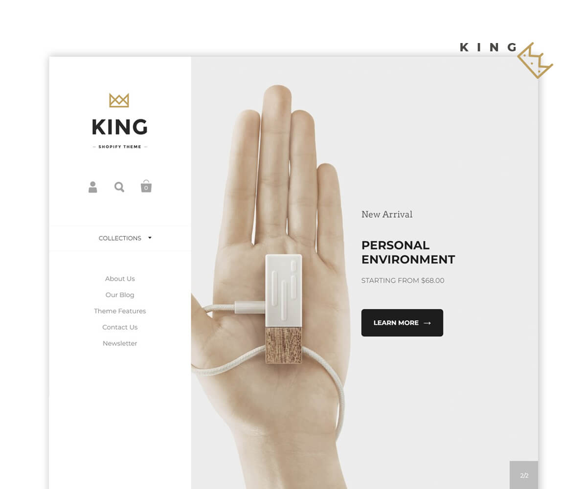 KINGDOM – Theme For Online Fashion, High Tech Devices And Toy Store