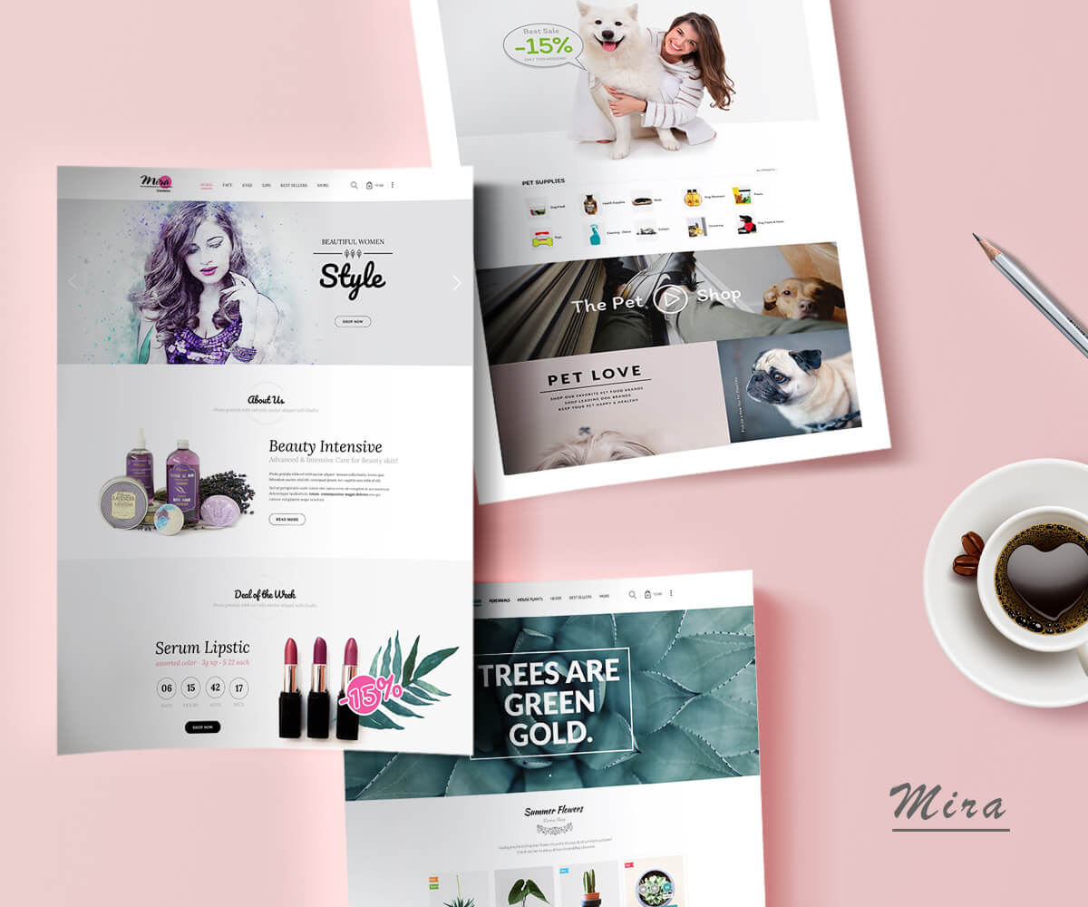 MIRA – Responsive Sectioned Shopify Theme for Fashion, Cosmetic, Plant, Pottery and Pet Store