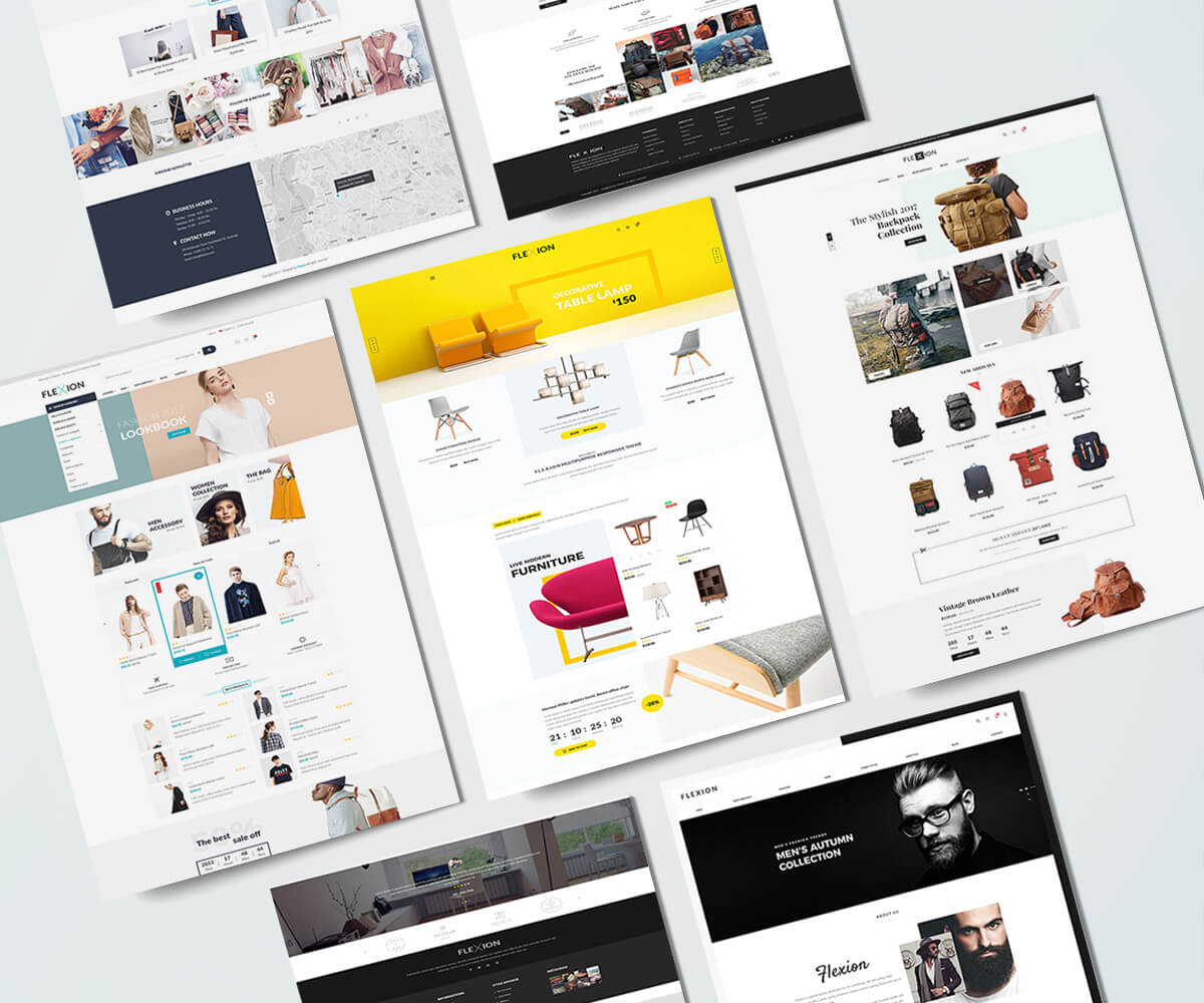 FLEXION – Creative Fashion Store Responsive Shopify Theme – Sections Drag & Drop Builder