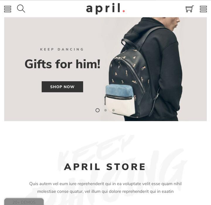 April Mobile First Friendly