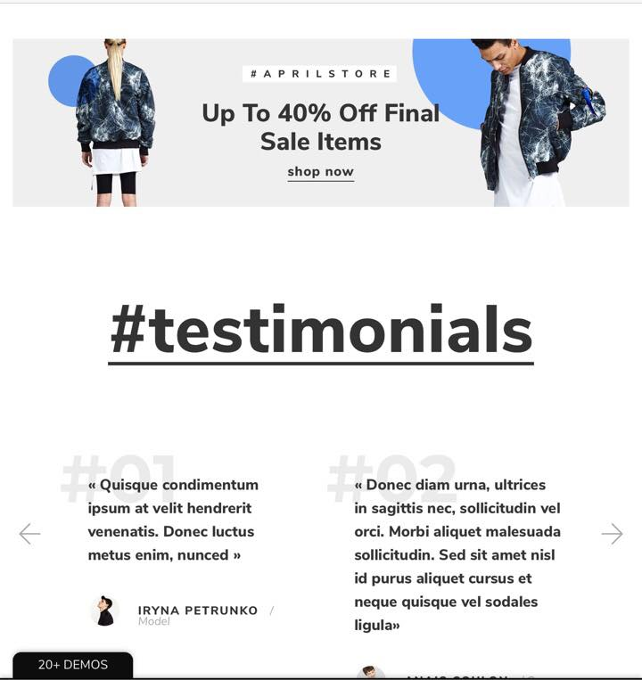 Shopify April-02 Theme Testimonials
