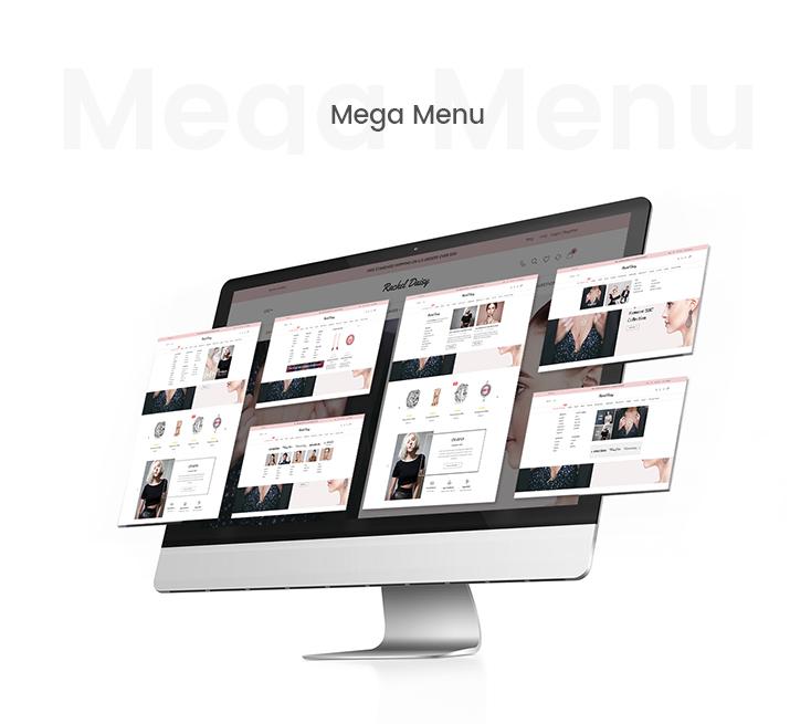 Mega menu supported