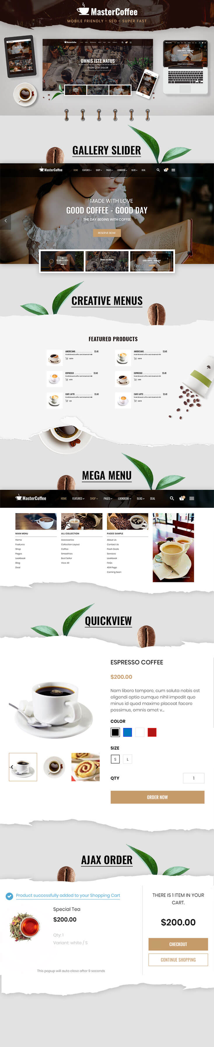 Shopify Coffee Home Introduction