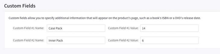 configure custom fields for qty increment