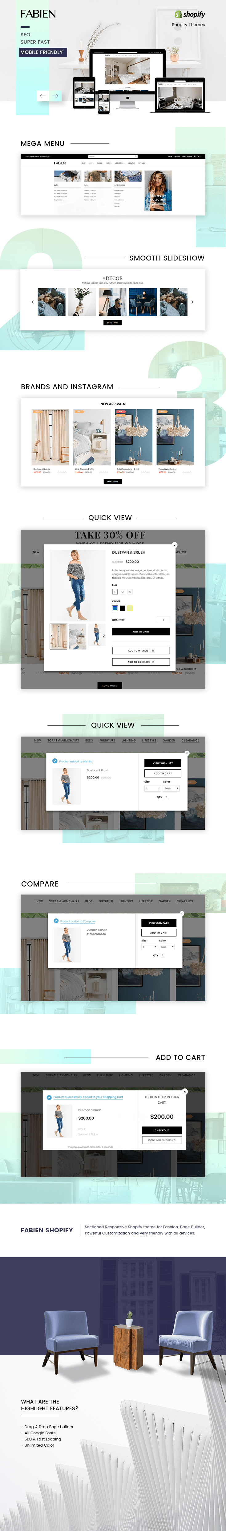Introduction of Fabien - Shopify theme for Furniture store & decoration