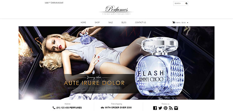 Free Shopify for fragrance, perfume and cosmetics