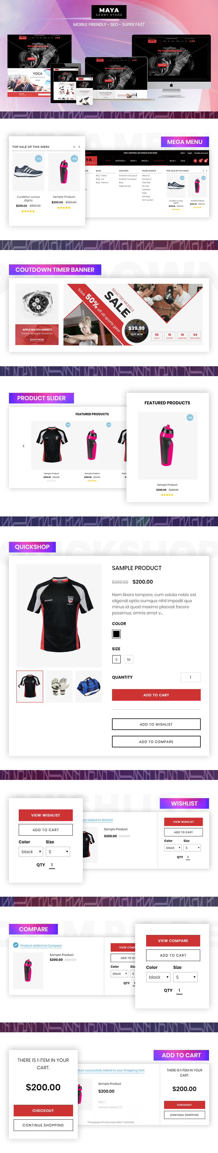 Shopify Maya Sport Store theme
