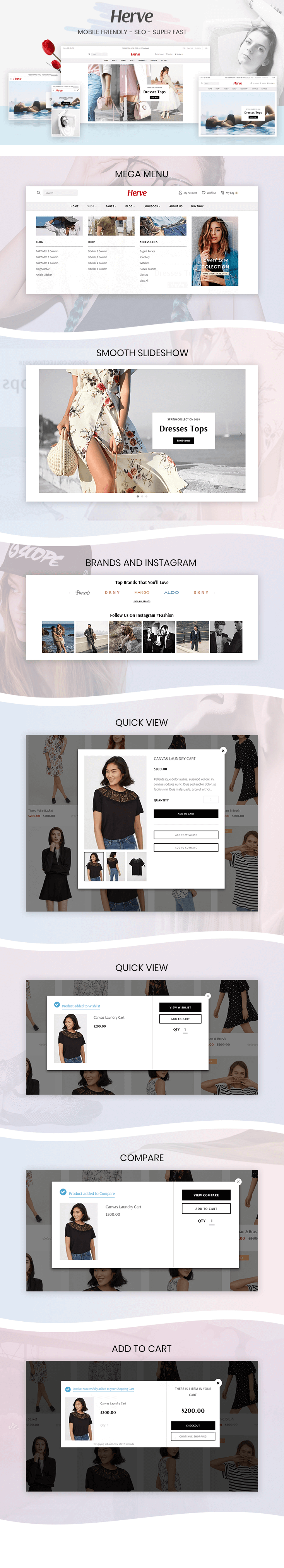 Shopify Harve Features